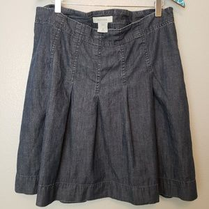 Merona Dark Wash Pleated Denim Skirt sz 10